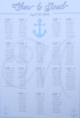 Personalized wedding seating chart