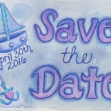 Personalized Save the Date card