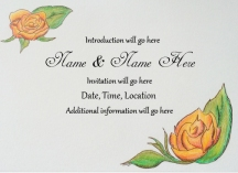 Sample hand drawn wedding invitation