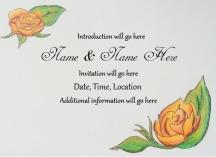 Sample hand drawn wedding invitation