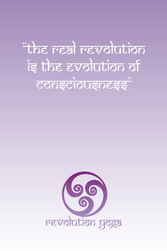 Revolution Yoga postcard (front)