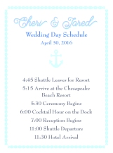 Personalized wedding schedule